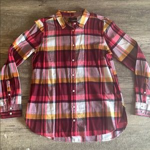 NWT J. Crew classic fit plaid button up shirt